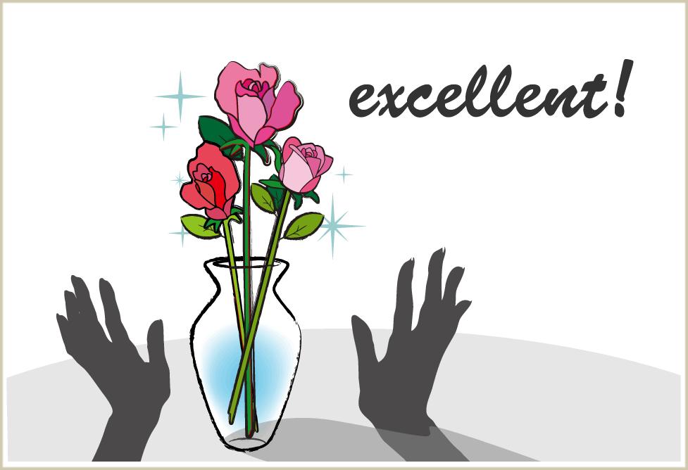 花瓶にバラを活けるイメージ画像